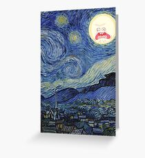 Starry Night rick and morty sun  Greeting Card