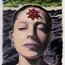Sarah at seal Rocks by Derek Mullins