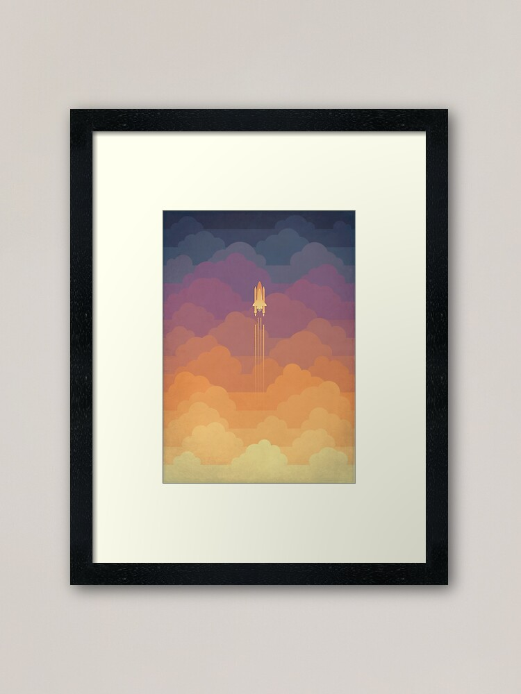 Alternate view of Clouds Framed Art Print
