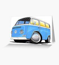 VW Bay (Early) Light Blue Greeting Card