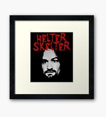 Charles Manson - Helter Skelter Framed Print