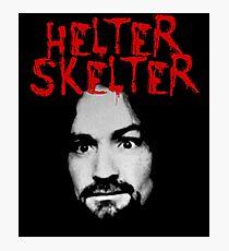 Charles Manson - Helter Skelter Photographic Print