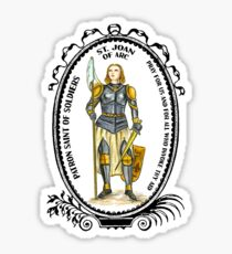 Saint Joan of Arc Patron of Soldiers Sticker