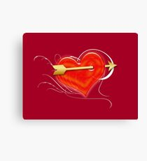 Heart and arrow Canvas Print