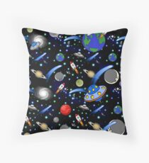 Galaxy Universe Throw Pillow