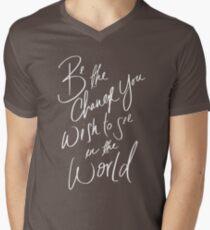 Be the Change Men's V-Neck T-Shirt