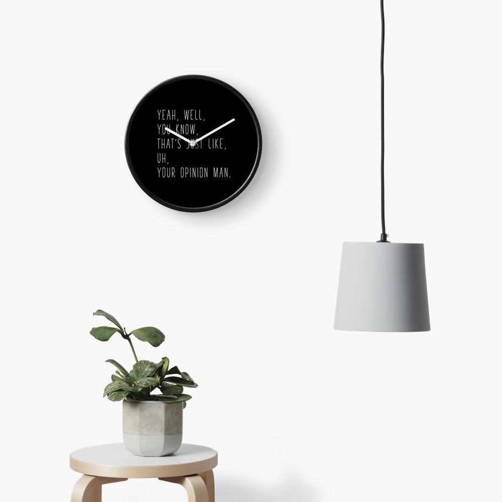 The Big Lebowski Quote Clock