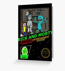 NINTENDO: NES RICK AND MORTY Greeting Card