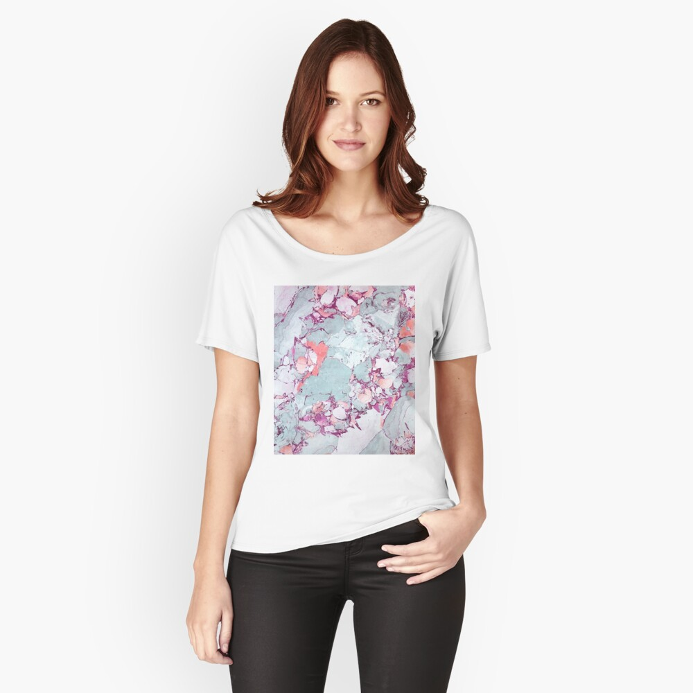 Marble Art V13 #redbubble #pattern #home #tech #lifestyle Relaxed Fit T-Shirt