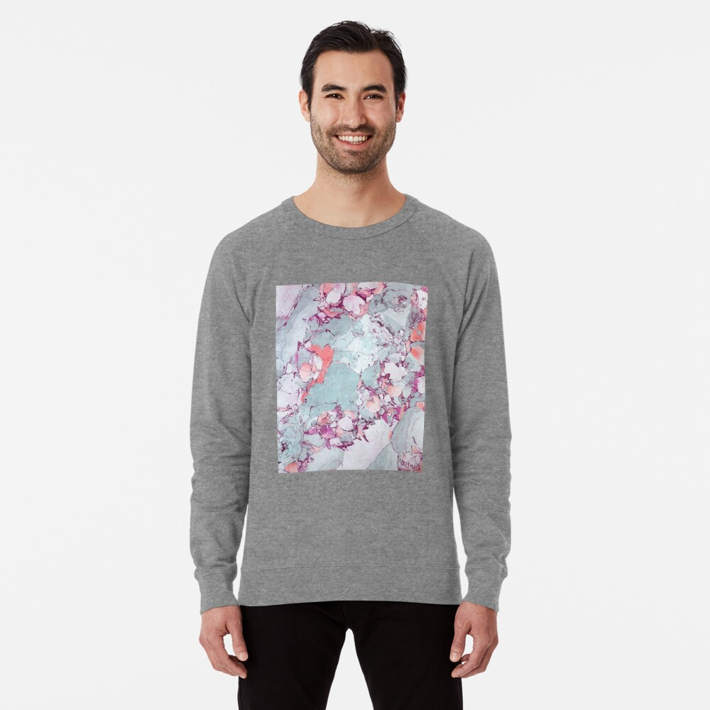 Marble Art V13 #redbubble #pattern #home #tech #lifestyle Lightweight Sweatshirt