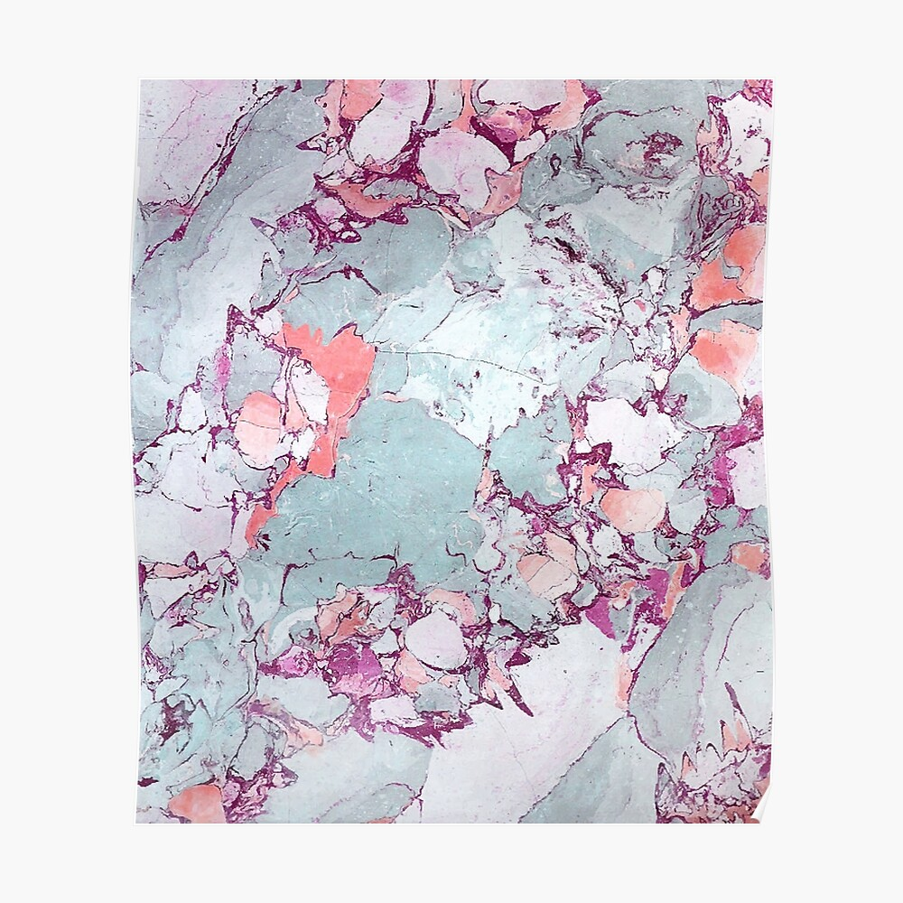 Marble Art V13 #redbubble #pattern #home #tech #lifestyle Poster