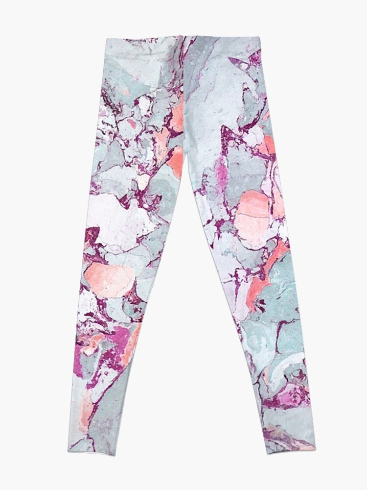 Alternate view of Marble Art V13 #redbubble #pattern #home #tech #lifestyle Leggings