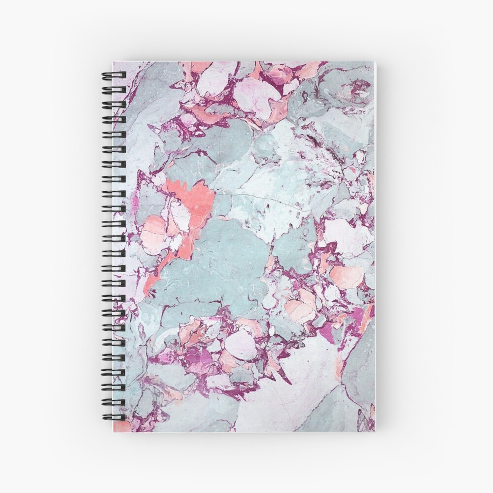 Marble Art V13 #redbubble #pattern #home #tech #lifestyle Spiral Notebook