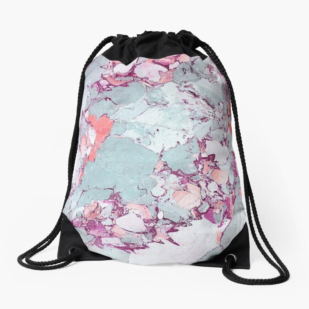 Marble Art V13 #redbubble #pattern #home #tech #lifestyle Drawstring Bag