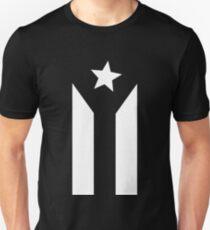 Camiseta unisex Bandera negra puertorriqueña