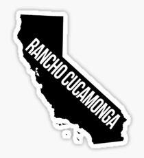 Rancho Cucamonga, California State Silhouette Sticker