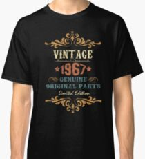 50th Birthday Tshirt Vintage 1967 Genuine Original Parts Limited Edition Classic T-Shirt