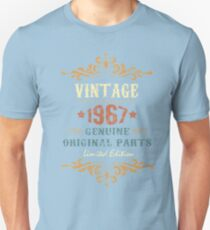 50th Birthday Tshirt Vintage 1967 Genuine Original Parts Limited Edition T-Shirt