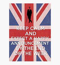 Happy announcement Photographic Print