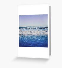 Indigo Waves Greeting Card