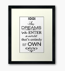 Harry Potter Dumbledore Quote Framed Print