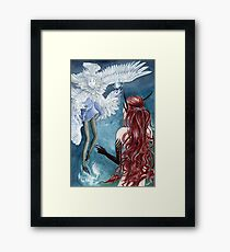 Feather meets Scale Framed Print