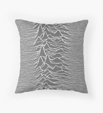 CP 1919 - Joy Division Unknown Pleasures: White on clear Throw Pillow