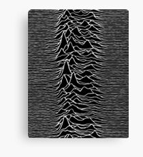 CP 1919 - Joy Division Unknown Pleasures: White on clear Canvas Print