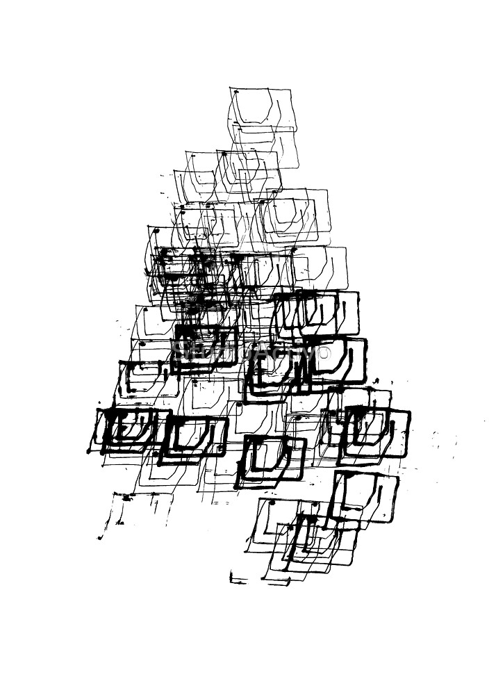 """Christmas Tree   """"Cubes""""   Black   [D7780~39_005] by StudioActivo"""