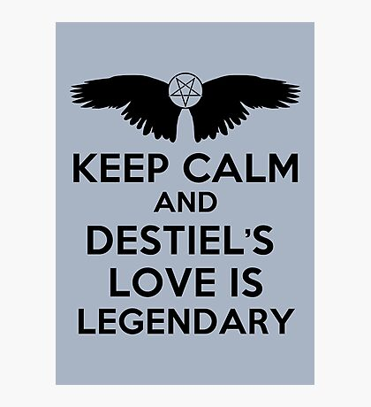 Destiel is Legendary Photographic Print