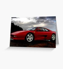 Ferrari 355 Challenge Posing Greeting Card