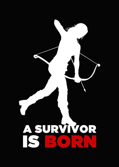 A Survivor is Born [white] by saniday