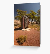 Outback Dunny Greeting Card