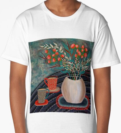 'Tea for Two' Long T-Shirt