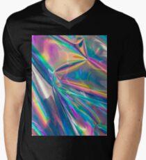 holographic Men's V-Neck T-Shirt