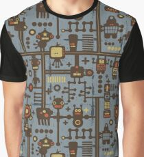Robots blue Graphic T-Shirt