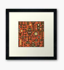 Robots red Framed Print