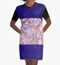 not my fault Graphic T-Shirt Dress