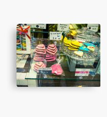 Biscuits In Store Window Canvas Print
