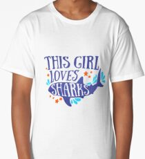 This Girl Loves Sharks Long T-Shirt