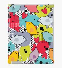 Birds and hearts and colorful blur iPad Case/Skin