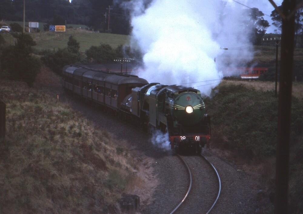 3801 & Flying Scotsman, Robertson, Australia 1989 by muz2142