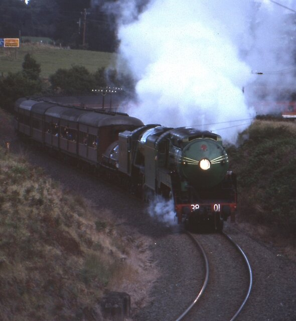3801 & Flying Scotsman, Robertson, Australia 1989 by muz2142