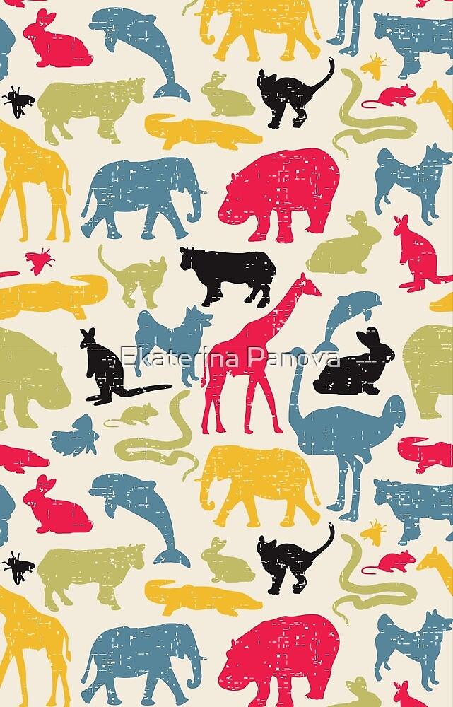 Retro animals by Ekaterina Panova
