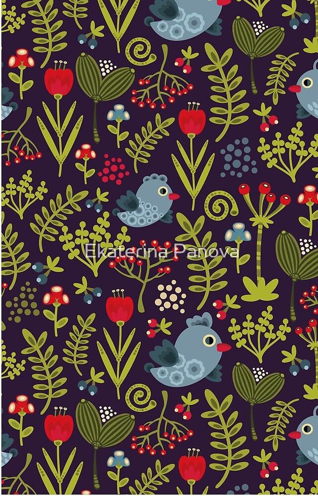 Folk birds by Ekaterina Panova