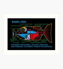 Babel Fish Art Print