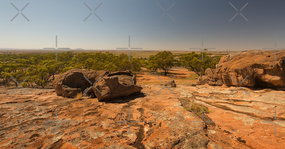 View from Tcharkulda Rock, South Australia by SusanAdey