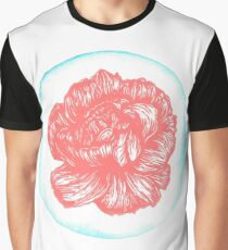 Carnation Birth Flower - January - Coral Graphic T-Shirt