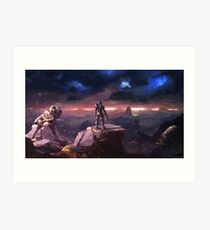 Spartan in the Storm Art Print