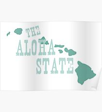 Hawaii State Motto Slogan Poster